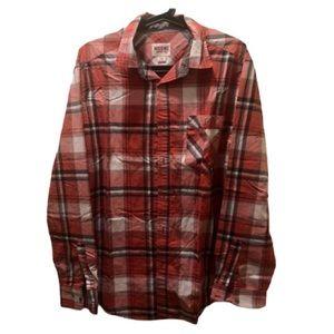 Flannel Plaid Shirt Men's  - Like new
